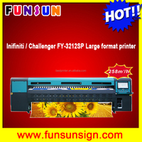 Original Infiniti / Challenger FY-3212SP large format digital printing machine with spt head