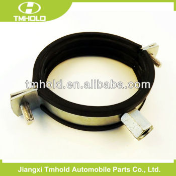 O type heavy duty hose clamp with rubber