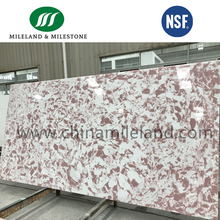 Pink Color Artificial Quartz Stone Slabs From Professional Quartz Stone Manufacturer With 50 Production Lines