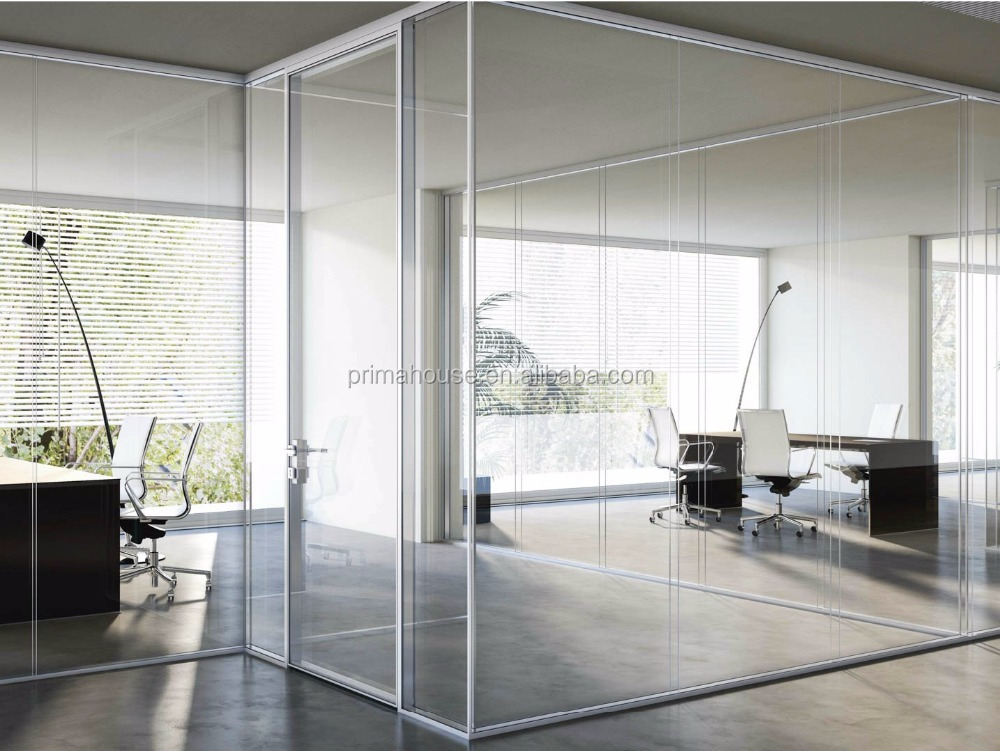 China supply cheap price glass partions tempered clear glass partition wall for sale