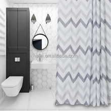 Good price wholesale polyester 3D printed waterproof shower curtain