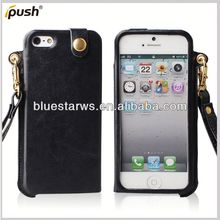 2013 New Hot Selling Wallet Design PU Leather Mobile Phone Cover For Iphone5 mobile phone accessoires