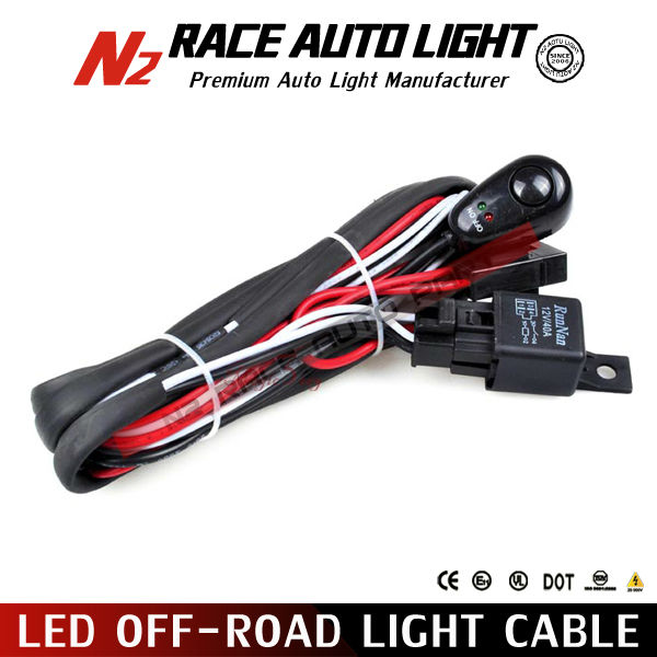 Max 240W off road lights mounting harness cable for Cars, 4WD, Jeep, Truck, Boat