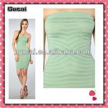 Gucai Alibaba China Seamless Green The Stripey Seamless Party Dresses For Fat Girls