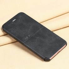[X-Level] For iPhone 7 Case, 2017 Classic Minimalist Business Style Flip Leather Case for iPhone 7 Plus