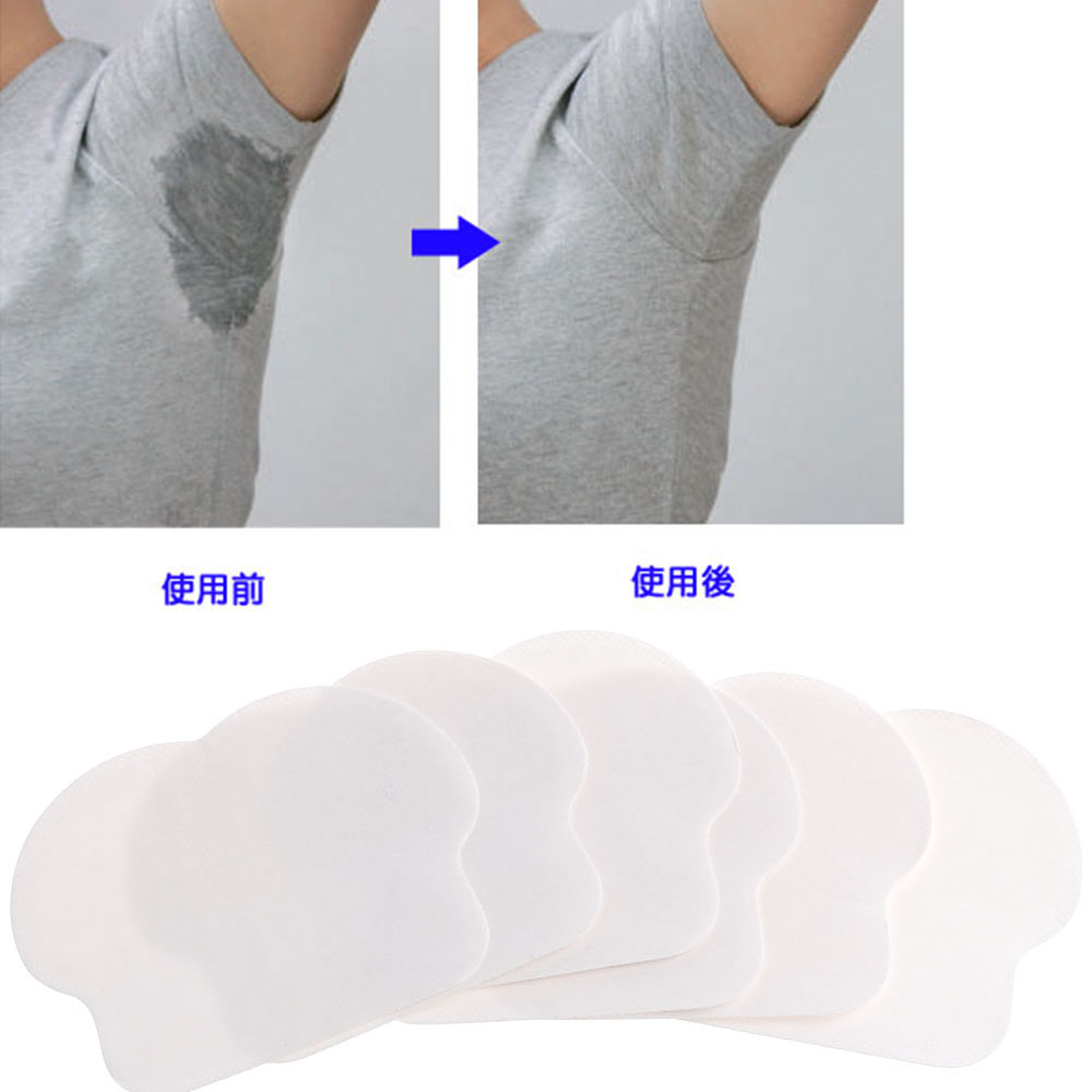 Hot Sale 12 pcs/pack Women Men Unisex Summer Disposable Underarm Armpit Sweat Pads Absorbing Anti Perspiration Deodorant