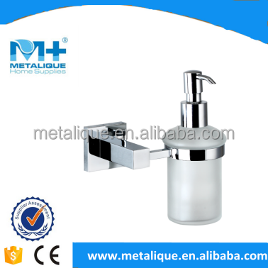 OEM/ODM Ningbo Factory High Quality wholesale bathroom accessory Wall Mounting hotel square liquid glass soap dispenser