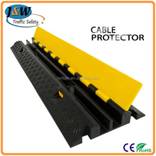 Hot Sale Heavy Duty Rubber 2 Channels Drop Over Cable Guard