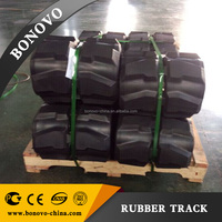 FIAT-HITACHI 650 125 80 rubber track, rubber pad ,rubber crawler made from natural rubber for Excavator