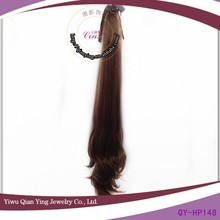 cheap supply fake natural curly brown hair drawstring ponytails
