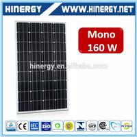 160W New design solar pv array 160W solar cell panel with great price