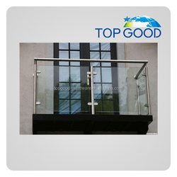 Qingdao topgood produce high quality balcony tempered laminated glass balcony railing terrace railing designs