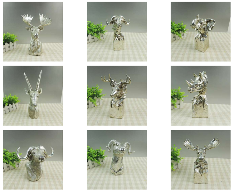 Resin deer head ornament home decoration pieces making