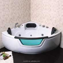 Indoor Bathroom Spa Bathtub Hot / Cold Faucet 150X150X62Cm Whirlpool Spa Massage Walk In Hot Tub