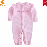 OEM ODM Factory Hot newborn baby clothes 2018 ruffle collar romper gown baby