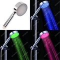 3 colors (green, blue red color) light led shower head temperature 8008-A2