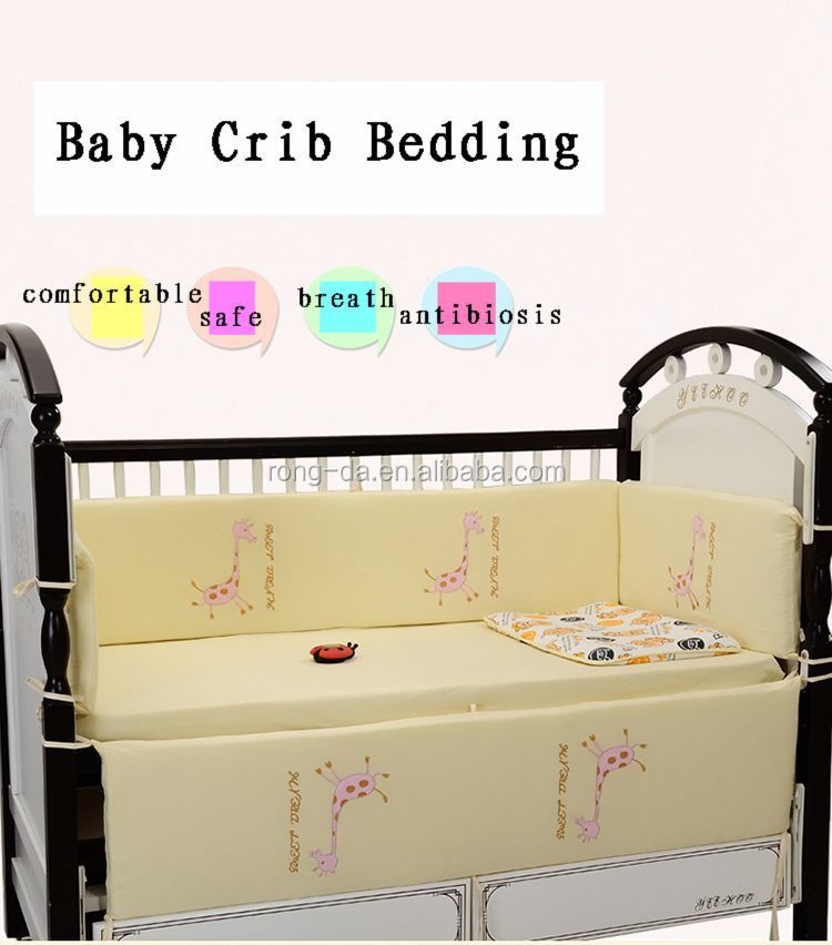 Cartoon Baby Deer Crib Bedding