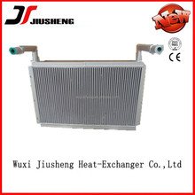 Air cooled brazed aluminum heavy equipment radiator