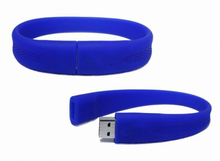 High-end cheap Bulk Cheap most popular silicone bracelet USB flash drive with gift box
