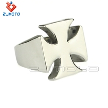 Solid Stainless Steel Cross Ring Jewelry Punk Men's Biker Style Ring