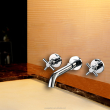 Wall Mounted Double Handle Water Tap