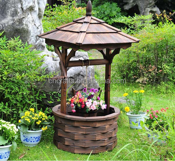 Country Garden Decorating Ideas Lovely Photograph: Decorative Wooden Wishing Well / Garden Wishing Well