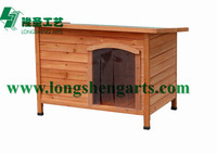 Wooden pet dog kennel dog house