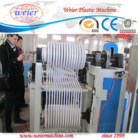 pvc edge banding making machine with hot stamping online, pvc edge bands production line three color printing