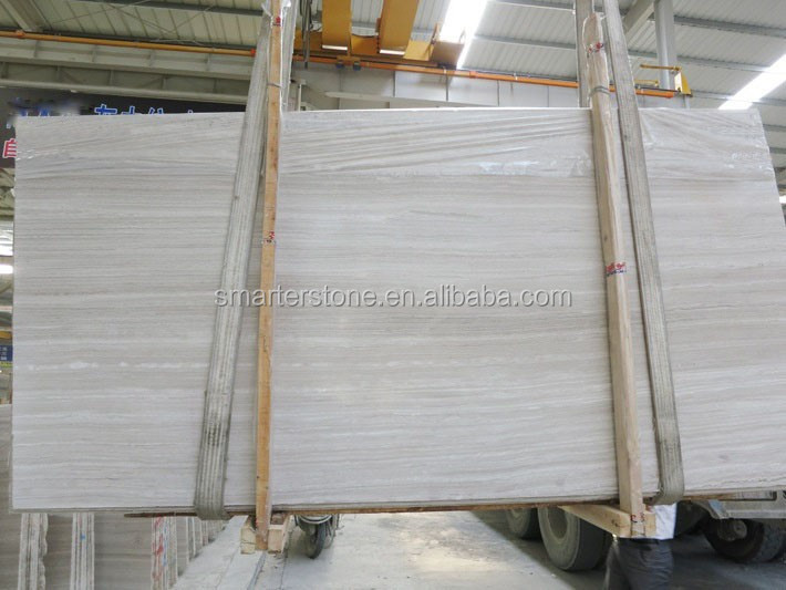White Marble Wood Vein White Marble Slab Price