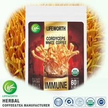 Lifeworth tasteful aweto organic herbal coffee powder with 100 gift package designs choice