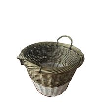 2017 Custom large size round wicker basket with handles