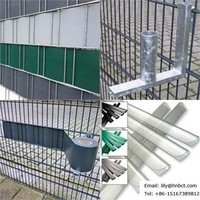 Anthrazit190mm width PVC Strip tarpaulins used as Privacy fence slats for grating fence panels