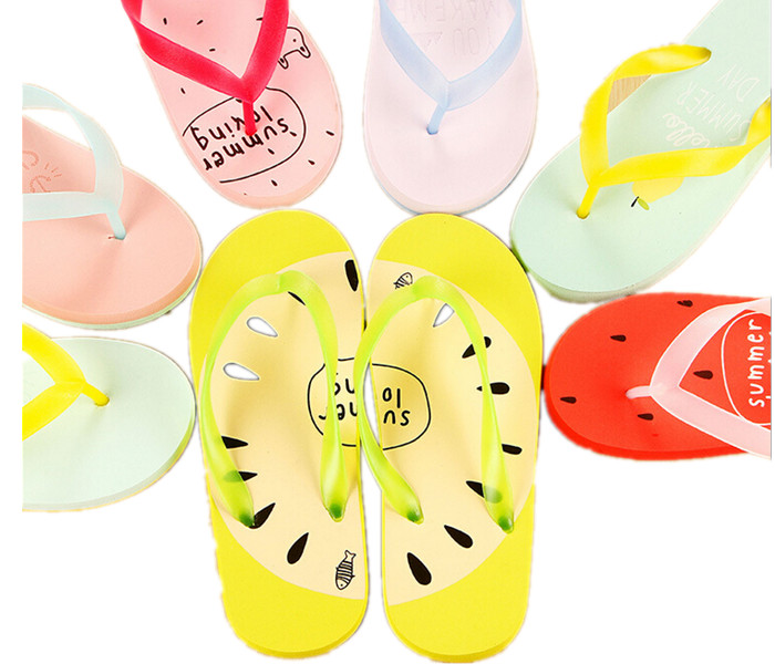 2017 fashion kawaii candy color women summer flip flops