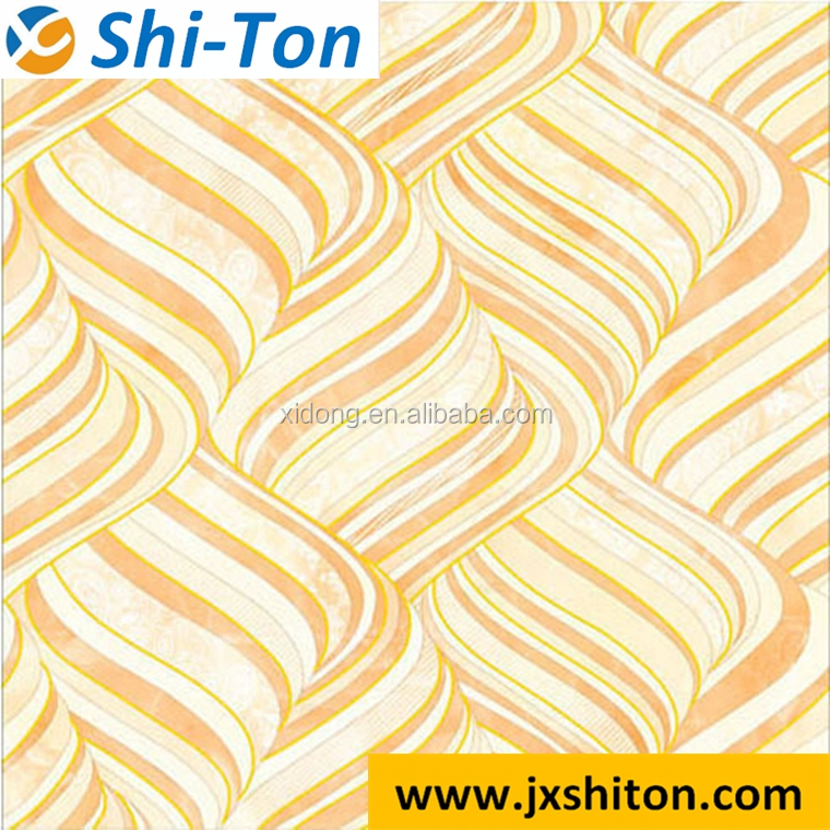 Wear Resistance carpet tiles commercial design , yellow polished crystal porcelain floor tile
