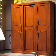 Bedroom wardrobe furniture oak solid wood stand wardrobe