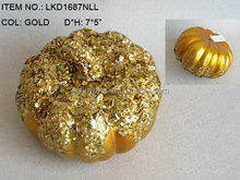Handmade artificial fake gold pumpkin,fake fruit vegetables for home decoration