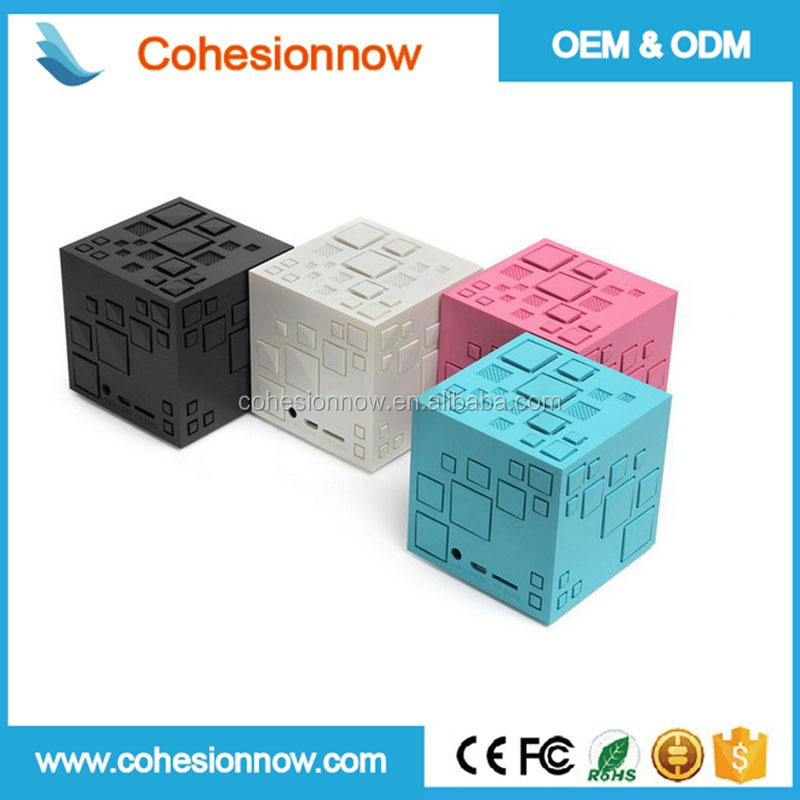 Portable led magic square cube wireless customized mini blue tooth bluetooth speaker