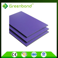 Greenbond pvdf waterproof fire resistant interior wall material acp panels