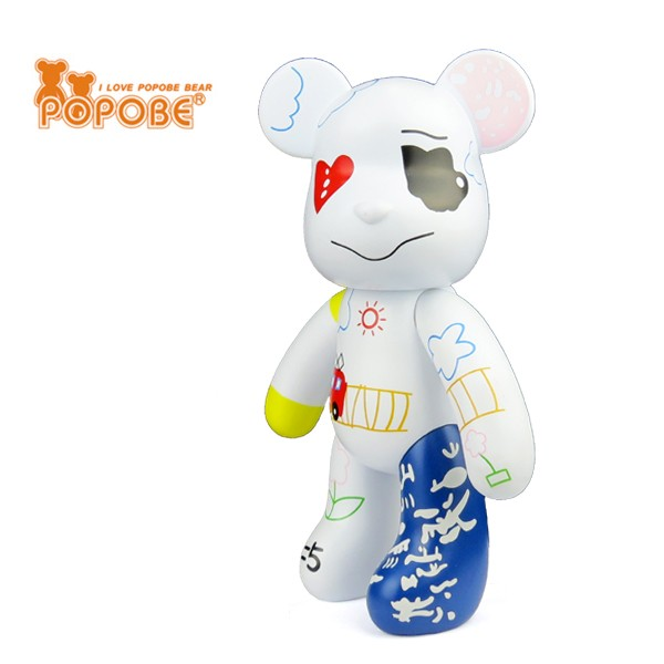 2016 Hot Selling Plastic POPOBE Bear Custom Figure Best Gift For Birthday
