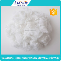 pet fibre recycled polyester staple fiber for producing thermal bonded waddings