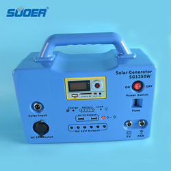 Suoer 50W Portable Solar Power System 18V Solar LED Light Solar Energy Home System with 20AH Battery