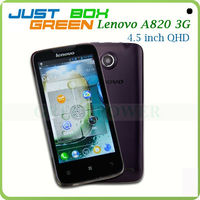 Hottest Smartphone Lenovo A820 Quad core MTK6589 Android 4.1.2 OS 4.5 inch IPS Screen 1GB 4GB Dual sim Card Slot.