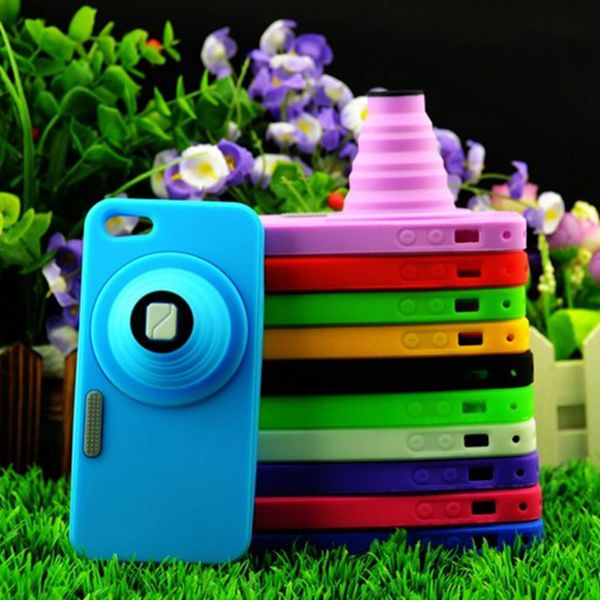 Hot selling high quality different colors camera silicone phone protect case