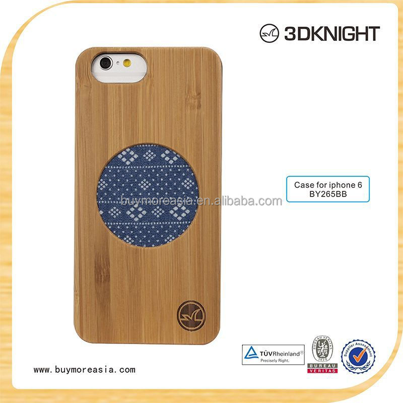 Promotion Wooden case cell phone for iphone 6, bamboo cell phone case