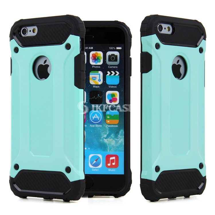 For Iphone 6s Case , 2 in1 TPU+ PC Shockproof Armour Rugged Phone Cover