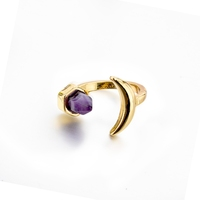 Light weight natural stone ring with beautiful designs cheap girl rings