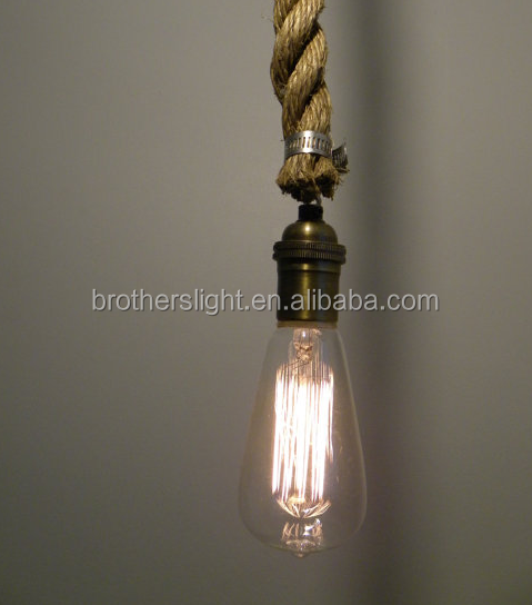 Rope Pendant Light Modern Industrial Chandelier Rustic