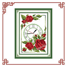 NKF garland of roses clock prints for embroidery