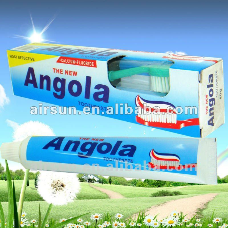 Angola Cheap Toothpaste Free toothbrush