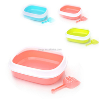 Plastic Litter Box Semi-Enclosed Pet Cleaning Supplies Pet Dog Toilet Toilet Send Litter Scoop Clean Cleaning Supplies
